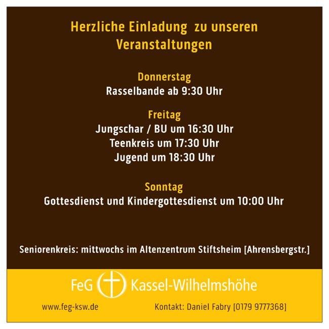 Herzliche Einladung zu unseren Veranstaltungen